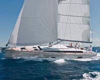 white hull sailing