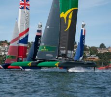 Fast foiling on day two in Sydney