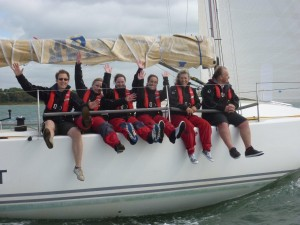 Industry yacht regatta, company yacht racing in the Solent