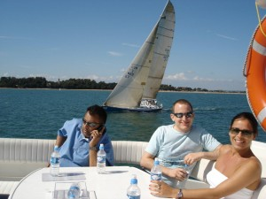 Cowes Week Hospitality onboard a luxury Princess 65