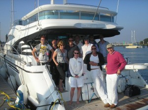 Fairline Squadron 55, corporate hospitality day and private luxury charter