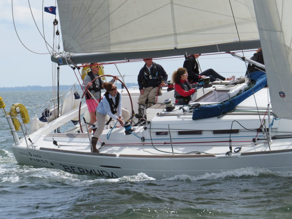 Company yacht regatta on the Solent
