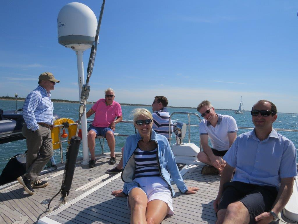 relaxing on a marine events luxury sailing day