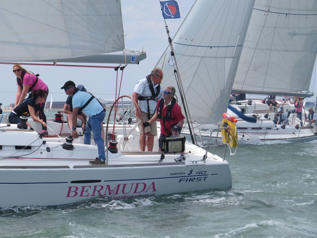 close yacht racing company regatta