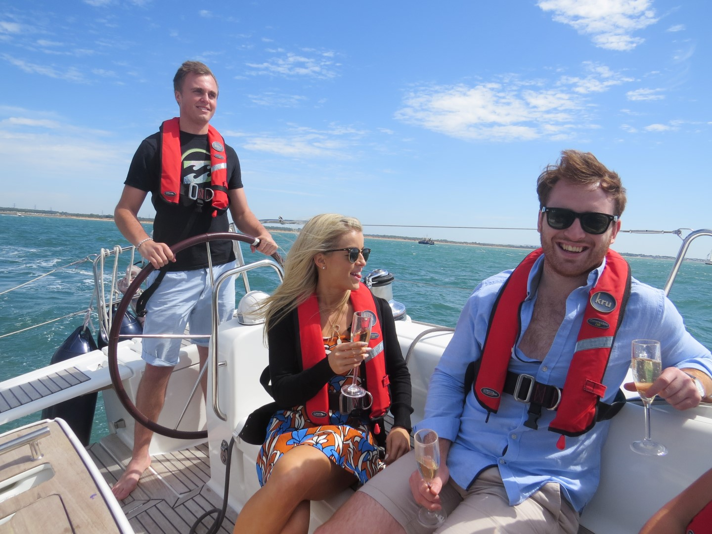Luxury sailing day on the Solent