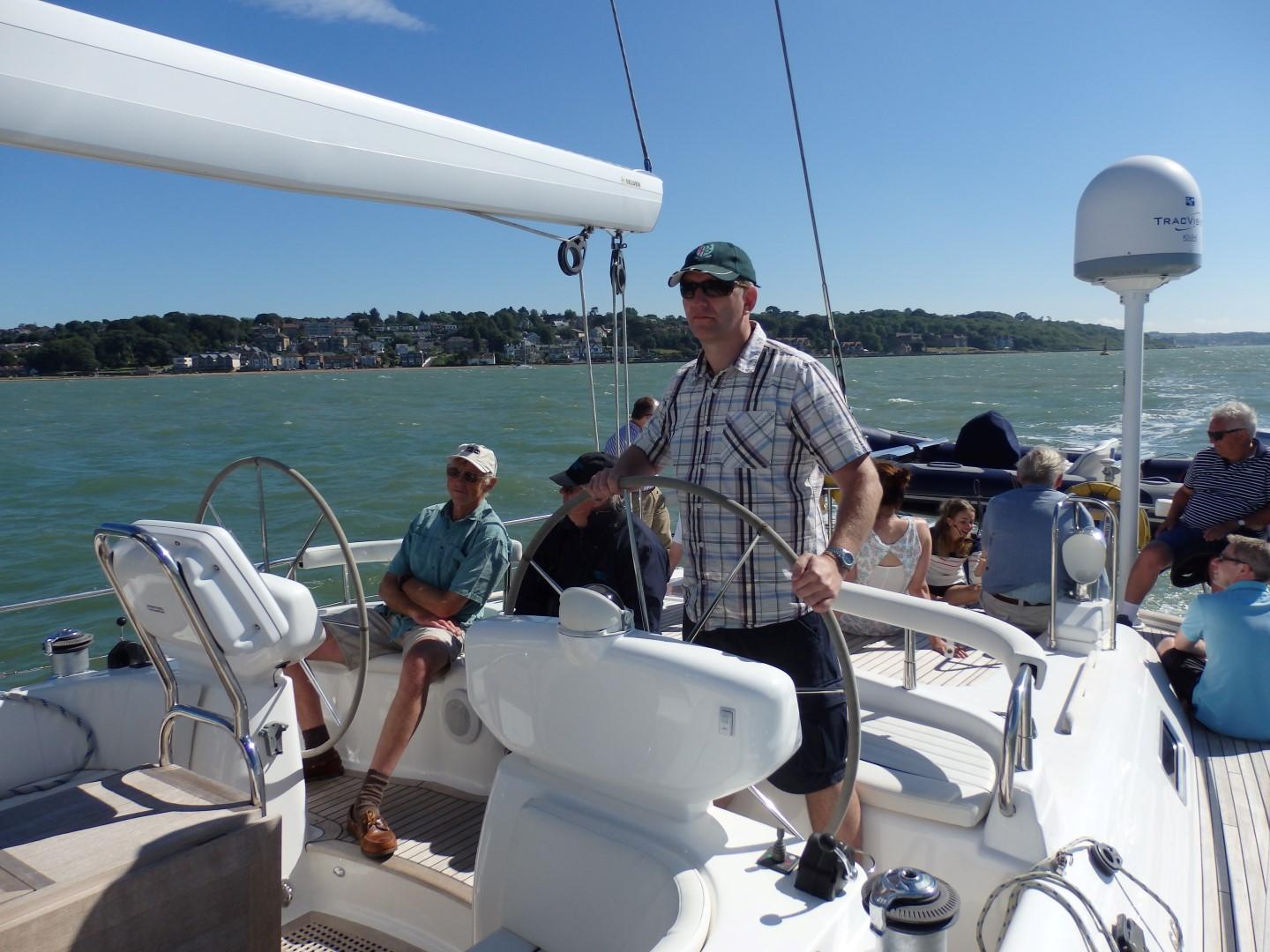 helming a moody 66, sailing day solent